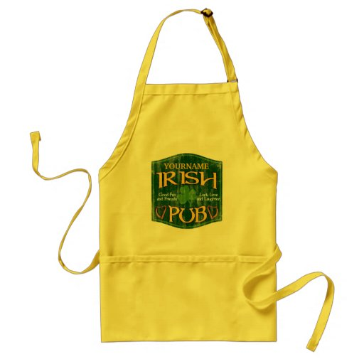 Personalized Irish Pub Sign Apron