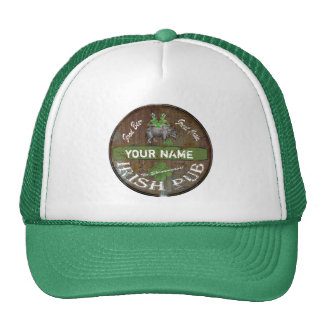 Personalized Irish pub sign Cap