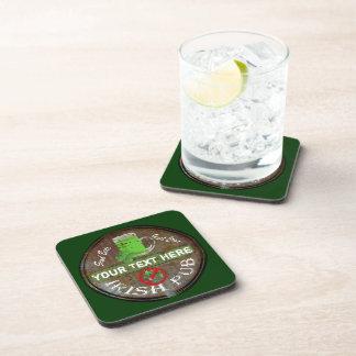 Personalized Irish Pub sign Coaster