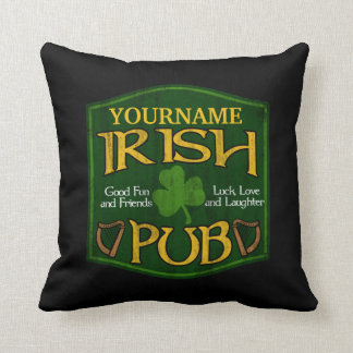 Personalized Irish Pub Sign Cushion
