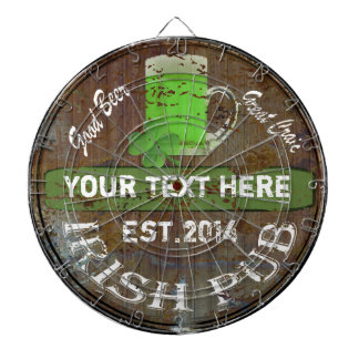 Personalized Irish pub sign Dartboard