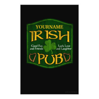 Personalized Irish Pub Sign Flyer