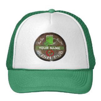 Personalized Irish pub sign Mesh Hats