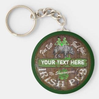 Personalized Irish pub sign Key Chains