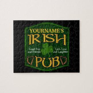 Personalized Irish Pub Sign Puzzle