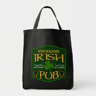 Personalized Irish Pub Sign Tote Bag