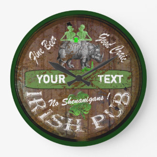 Personalized Irish pub sign Wall Clock