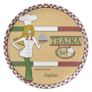Personalized Italian Chef Plate