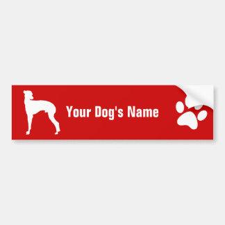 Personalized Italian Greyhound イタリアン・グレーハウンド Bumper Sticker