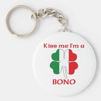 Personalized Italian Kiss Me I'm Bono Key Chain