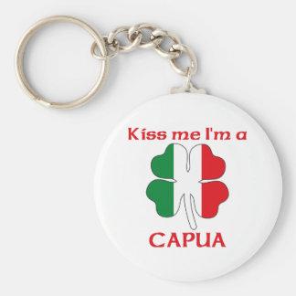 Personalized Italian Kiss Me I'm Capua Basic Round Button Key Ring