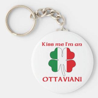 Personalized Italian Kiss Me I'm Ottaviani Basic Round Button Key Ring