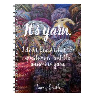 Personalized// It's yarn. Notebook