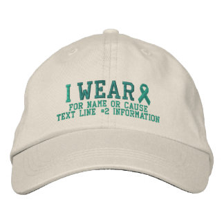 Personalized Jade Ribbon Awareness Embroidery Embroidered Baseball Cap