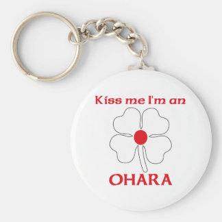 Personalized Japanese Kiss Me I'm Ohara Basic Round Button Key Ring