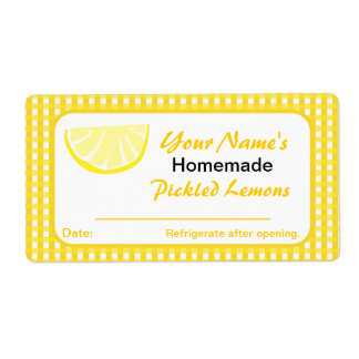 Personalized Jar Stickers Lemon Preserves