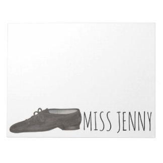 Personalized Jazz Shoe Dance Teacher Notepad