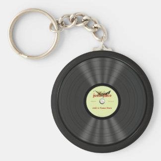 Personalized Jazz Vinyl Record Basic Round Button Key Ring