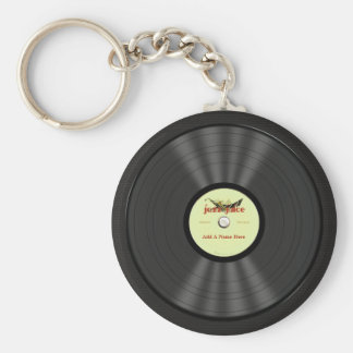 Personalized Jazz Vinyl Record Key Ring