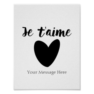 Personalized Je 'taime French Love Quote Wall Art
