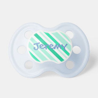 "Personalized ""Jeremy"" blue and green Pacifier"