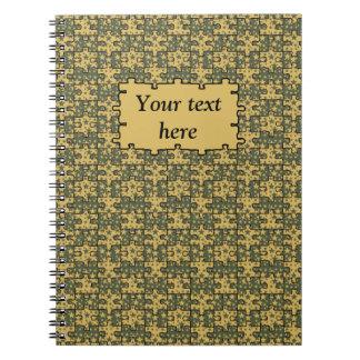 Personalized jigsaw stars pattern notebook