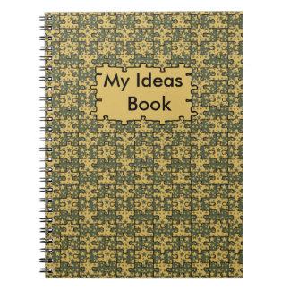 Personalized jigsaw stars pattern notebook