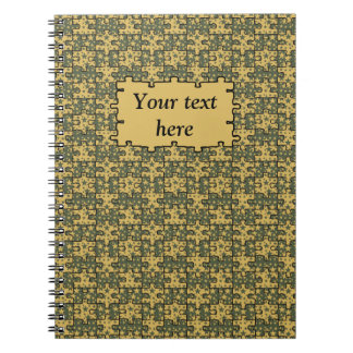 Personalized jigsaw stars pattern notebooks