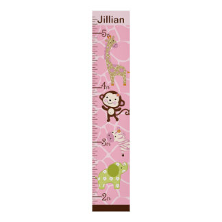 Personalized Jungle Jill Growth Chart #2
