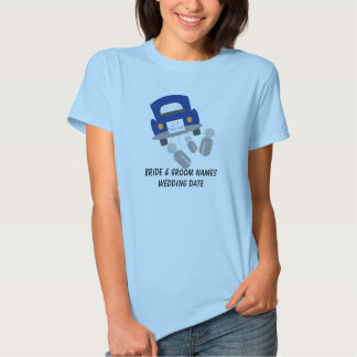 Personalized Just Married Car T-shirt