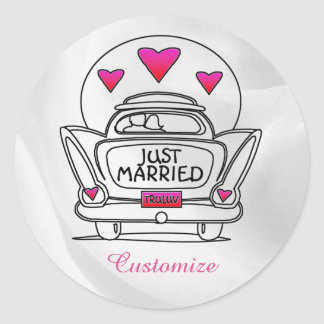 Personalized Just Married Honeymoon Car Stickers