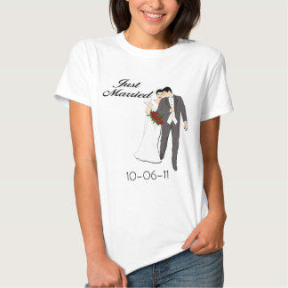 Personalized Just Married T-shirt