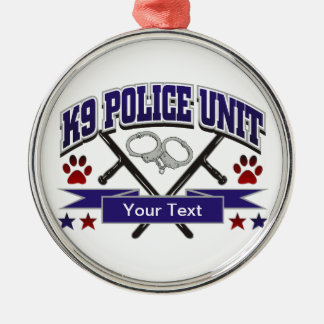 Personalized K9 Police Unit Christmas Ornament