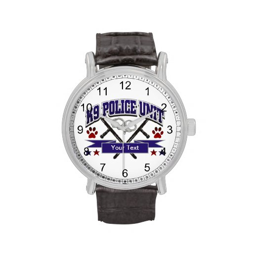 Personalized K9 Police Unit Watches