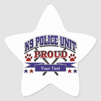 Personalized K9 Unit Proud Stickers