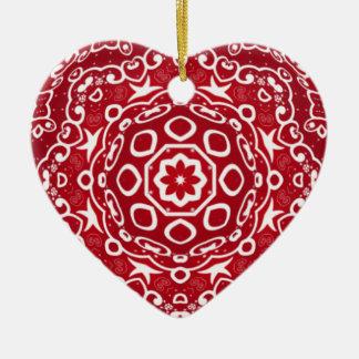 Personalized Kaleidoscopic Heart Ornament.1 Christmas Ornament