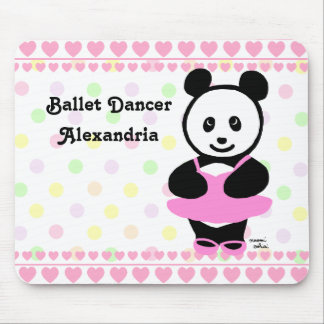 Personalized Kawaii Panda Ballet Dancer Mouse Pad