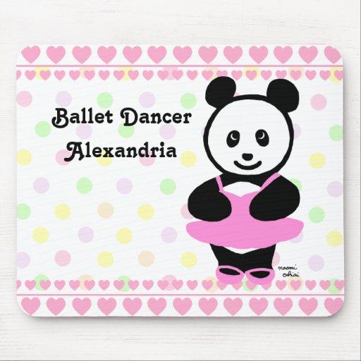 Personalized Kawaii Panda Ballet Dancer Mousepad