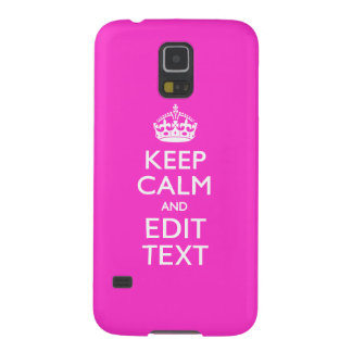 Personalized KEEP CALM AND Edit Text Hot Pink Galaxy S5 Cover