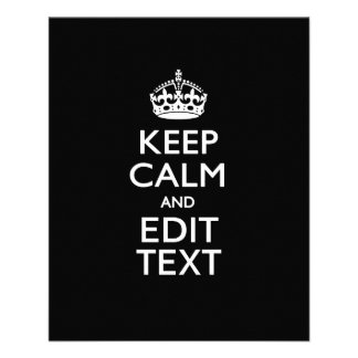 Personalized KEEP CALM AND Edit Text Invite Flyer