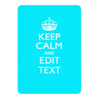 Personalized KEEP CALM AND Edit Text on Peacock Card