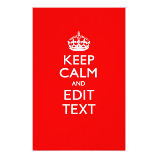 Personalized KEEP CALM AND Edit Text on Red 14 Cm X 21.5 Cm Flyer