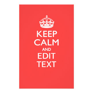 Personalized KEEP CALM and your text on Coral 14 Cm X 21.5 Cm Flyer