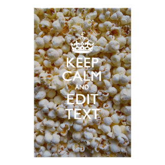 Personalized KEEP CALM AND Your Text on Popcorn 14 Cm X 21.5 Cm Flyer