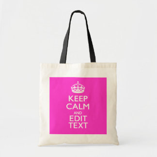 Personalized KEEP CALM AND Your Text Vibrant Pink