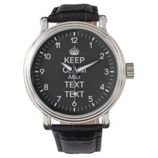 Personalized Keep Calm Watch