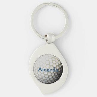 personalized keychain for golfers