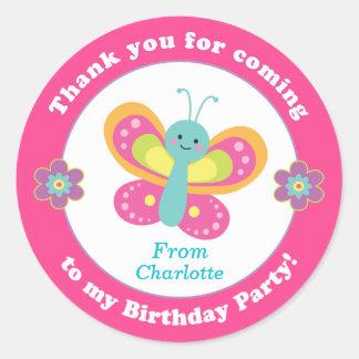 Personalized kids birthday party sticker stickers