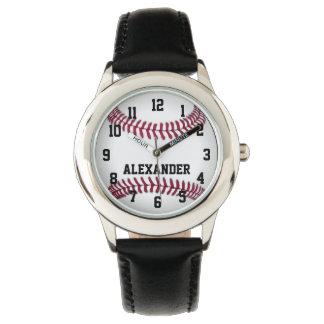 Personalized Kids Boys Baseball Watch