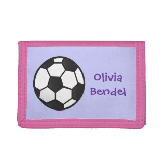 Personalized Kids Girls Soccer Football Wallet